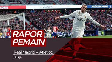 Berita video nilai rating para pemain Real Madrid saat menang di derbi Madrileno, Sabtu (9/2/2019)