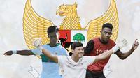 Timnas Indonesia - Pratama Arhan, Muhammad Riyandi, Braif Fatari (Bola.com/Adreanus Titus)