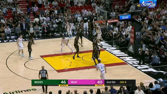 Berita video game recap NBA 2017-2018 antara Miami Heat melawan Milwaukee Bucks dengan skor 91-85.