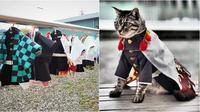 Pria Ini Membuat Kostum Ala Tokoh Anime Untuk Kucingnya, 6 Hasilnya Bikin Takjub. (Sumber: Twitter/YagyouNEKO)