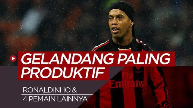 Berita motion grafis 5 gelandang paling produktif abad 21, Ronaldinho berada di posisi kelima.