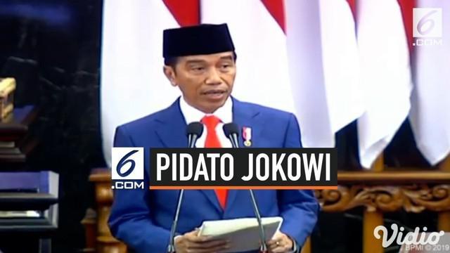 Presiden Jokowi menjelaskan asumsi ekonomi makro Indonesia pada 2020. Diantaranya besaran pertumbuhan ekonomi, inflasi, dan kurs Rupiah pada USD.