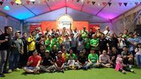 Pengguna mobil Proton berkumpul di Go Food Festival di kawasan Gelora Bung Karno, Jakarta. (ist)