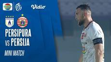 Berita video mini match pekan ketiga BRI Liga 1 2021/2022 antara Persipura Jayapura melawan Persija Jakarta pada Minggu (19/9/2021) malam hari WIB.