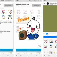 Stiker BBM Ramadan membuat chatting kamu di aplikasi BBM makin ekspresif (Liputan6.com/ Agustin Setyo W)