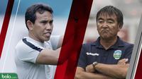 Duel pelatih Timnas Indonesia dan Timor Leste di Piala AFF 2018. (Bola.com/Dody Iryawan)