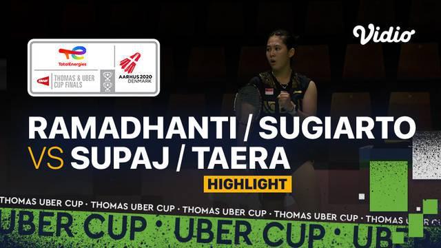 Berita video highlights pertandingan keempat Indonesia vs Thailand pada perempat final Piala Uber 2020, di mana pasangan Siti Fadia Ramadhanti / Ribka Sugiarto meraih kemenangan, Jumat (15/10/2021) dinihari WIB.
