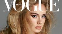 Potret Adele dalam sampul majalah Vogue edisi November. (dok. Instagram @adele / https://www.instagram.com/p/CUu71HDthaF/ / Gabriella Ajeng)