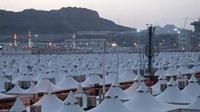 Perkemahan bagi jemaah haji selama di Mina yang disediakan pemerintah Arab Saudi, untuk melaksanakan mabit. Tenda besar tersebut dilengkapi pendingin udara dan tahan api.(Antara)