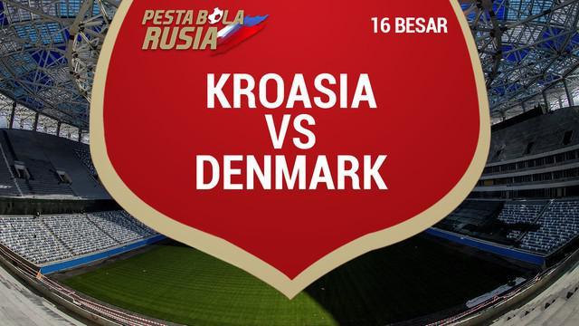 Berita video data dan statistik laga 16 besar Kroasia kontra Denmark yang harus diselesaikan dengan adu penalti.