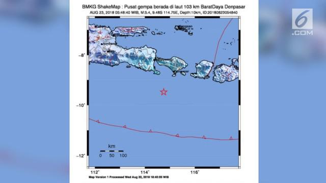 Video Gempa Magnitudo  Guncang Bali Pagi Ini