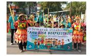Potret Semarak Perayaan Hari Disabilitas Internasional di Surabaya (sumber:Instagram/dispendiksby)