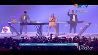 Siti Badriah, Winky Wiryawan, dan Jevin Julian dalam Closing Ceremony Asian Games 2018