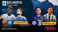 Link Live Streaming Big Match Liga Italia Serie A Matchday 9 di Vidio Malam Ini. (Sumber : dok. vidio.com)