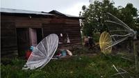 Puting beliung di Bener Meriah, Aceh. (Liputan6.com/Rino Abonita)