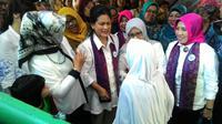 Ibu Negara Iriana Joko Widodo berkeliling puskesmas di lima wilayah di Jakarta.