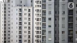 Suasana deretan unit apartemen di Jakarta, Selasa (28/7/2020). Tingkat hunian apartemen sewa pada kuartal II tahun ini berada di kisaran 66 persen hingga 67 persen. (Liputan6.com/Faizal Fanani)
