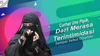 Dari merasa terintimidasi sampai menyebut dizalimi, Umi Pipik ungkap keresahan hatinya. (Foto: Bambang E Ros/Bintang.com Desain: Nurman Abdul Hakim/Bintang.com)