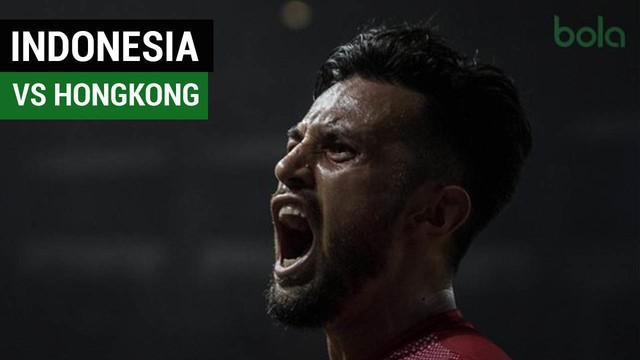 Timnas U-23 Indonesia menang 3-1 atas HongKong pada pertandingan terakhir Grup A sepak bola Asian Games 2018, di Stadion Patriot Candrabhaga.