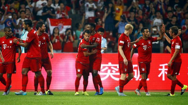 Bayern Munchen bermain dominan saat menghadapi Internazionale pada laga persahabatan di Shanghai Stadium, Selasa (21/7/2015) malam WIB. Kendati demikian, Bayern hanya menang 1-0 lewat gol Mario Gotze di menit ke-80.