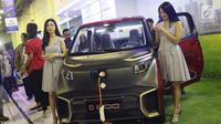 Salah satu mobil bertenaga listrik yang dipamerkan pada gelaran Indonesia Electric Motor Show (IEMS) 2019 di Jakarta, Rabu (4/9/2019). IEMS 2019 merupakan pameran khusus kendaraan listrik pertama di Indonesia yang digelar BPPT. (Liputan6.com/Helmi Fithriansyah)