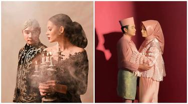 Kompak Pakai Baju Adat, Ini 7 Gaya Pemotretan Abash dan Jeje Bak Prewedding