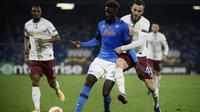 Tiemoue Bakayoko menikmati masa pinjamannya di Napoli dan tak menutup peluang untuk pindah secara permanen dari Chelsea pada akhir musim. (AFP/Filippo Monteforte)