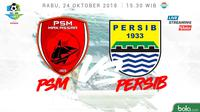 Liga 1 2018 PSM Makassar Vs Persib Bandung (Bola.com/Adreanus Titus)
