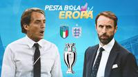 Piala Eropa - Euro 2020 Italia Vs Inggris - Head to Head Pelatih (Bola.com/Adreanus Titus)