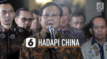 Menteri Pertahanan Prabowo Subianto memilih jalan damai melalui diplomasi dalam mengatasi polemik kepemilikan perairan Natuna oleh China.