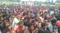 Anak-anak pengungsi Nduga di Kota Wamena, Kabupaten Jayawijaya. (foto: Liputan6.com/kabarpapua.co/dok.relawan)