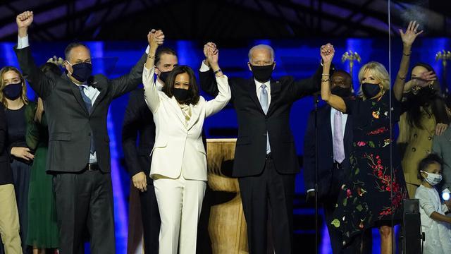 FOTO: Joe Biden - Kamala Harris Sampaikan Pidato Kemenangan Pilpres AS 2020