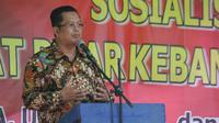 Wakil Ketua MPR RI Dr. Mahyudin, ST, MM menggelar Sosialisasi Empat Pilar MPR RI yang dihadiri Pimpinan, para guru serta ratusan santri.