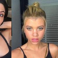 Banyak yang bilang Sofia Richie sering mengikuti gaya mantan dari kekasihnya, Kourtney Kardashian. (instagram/kourtneykardash/sofiarichie)