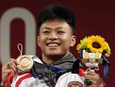 FOTO: Rahmat Erwin Sumbang Perunggu untuk Indonesia di Olimpiade Tokyo 2020