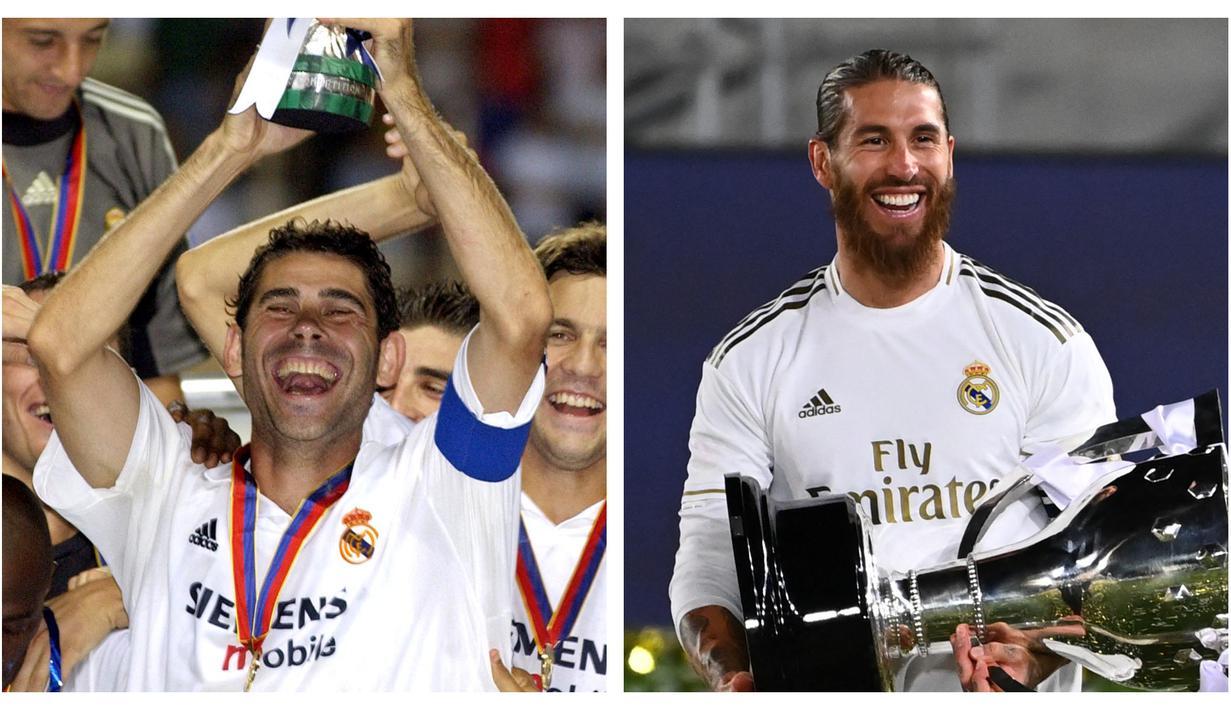 Presiden Real Madrid, Florentino Perez telah bertahta selama lebih dari dua dekade sejak 2000 silam. Berbagai prestasi telah diraih di samping beberapa kontroversi yang mewarnainya. Di antara kontroversi tersebut adalah terbuangnya 5 legenda klub. Siapa saja? (Foto: Kolase AFP)
