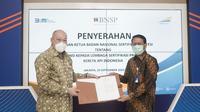 Lembaga Sertifikasi Profesi (LSP) PT Kereta Api Indonesia (Persero) resmi dapatkan lisensi dari Badan Nasional Sertifikasi Profesi (BNSP) (dok: KAI)
