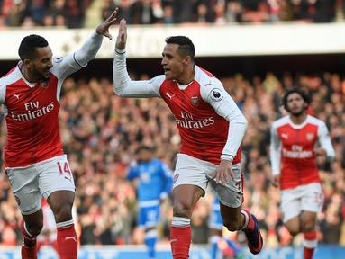 Arsenal mengalahkan AFC Bournemouth dengan skor 3-1 dalam laga pekan ke-13 Premier League 2016-2017 di Stadion Emirates, Minggu (27/11/2016). (Reuters/Toby Melville)