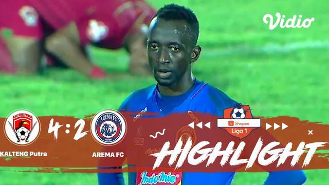 Laga lanjutan Shopee Liga 1, Arema FC vs Kalteng Putra FC berakhir dengan skor 4-2 #shopeeliga1