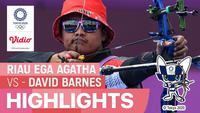 Berita Video, Riau Ega Agatha Raih Kemenangan pada Babak 32 Besar Melawa Pepanah Australia pada Kamis (29/7/2021)