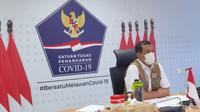 Ketua Satgas Penanganan COVID-19 Doni Monardo mengajak liburan Tahun Baru 2021 tanpa bepergian dan di rumah saja demi mencegah penularan virus Corona. (Badan Nasional Penanggulangan Bencana/BNPB)