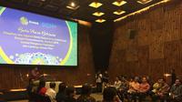 Jajaran SCM dan Emtek Buka Puasa Bersama Buka Puasa Bersama Pimpinan dan Jajaran Media dalam Grup SCM/Emtek dengan Kemenkominfo, Komisi I DPR, Komisi Penyiaran Indonesia, dan Lembaga Sensor Film (Liputan6.com/Devira Prastiwi)