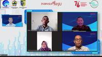 Webinar Literasi Digital Nasional yang digelar oleh Kementerian Komunikasi dan Informatika untuk wilayah Kabupaten Demak. (Foto: Liputan6.com/Kusfitria Martayasih)