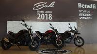 Benelli TRK 251, 502C dan 752S debut global dari Bali. (Septian/Liputan6.com)