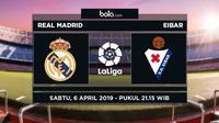 La Liga: Real Madrid vs Eibar. (Bola.com/Dody Iryawan)