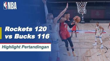 Berita Video Highlights NBA, Melihat Aksi Houston Rockets yang Berhasil Bungkam Milwaukee Bucks