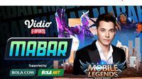 Live streaming mabar Mobile Legends, Senin (22/2/2021) pukul 19.00 WIB dapat disaksikan melalui platform Vidio, laman Bola.com, dan Bola.net. (Dok. Vidio)