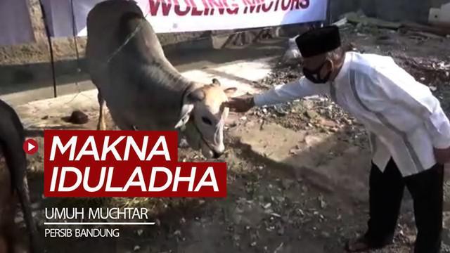 Berita video Komisaris PT Persib Bandung Bermartabat, Umuh Muchtar, memiliki makna spesial berkurban di Iduladha saat pandemi COVID-19.