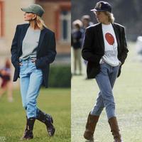 Intip gaya Hailey Bieber yang tiru gaya Putri Diana (Foto: Instagram/popculturegurus)