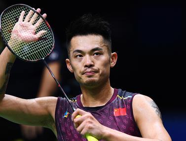 FOTO: Legenda Bulu Tangkis China Lin Dan Gantung Raket